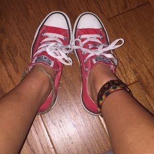 Red Old School Converse